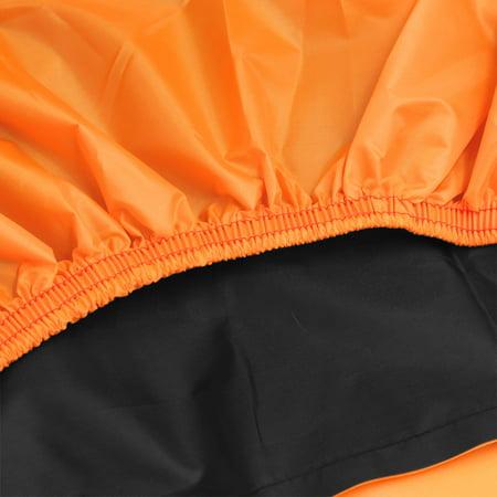Rain Dust XL 180T Motorcycle Cover Outdoor UV Snow Protector Black Orange - image 7 de 7