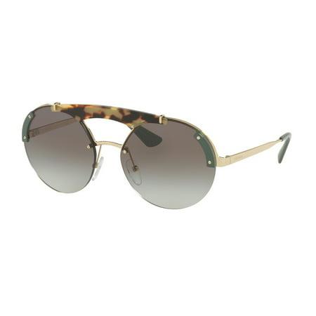 Sunglasses Prada PR 52 US SZ60A7 PALE GOLD/MEDIUM HAVANA/GREEN