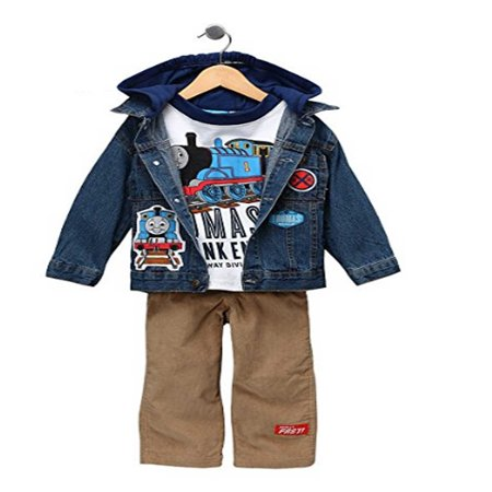 Thomas the Train 3pc Set with Denim Jacket - Size 2T (Thomas The Train Costume 2t)