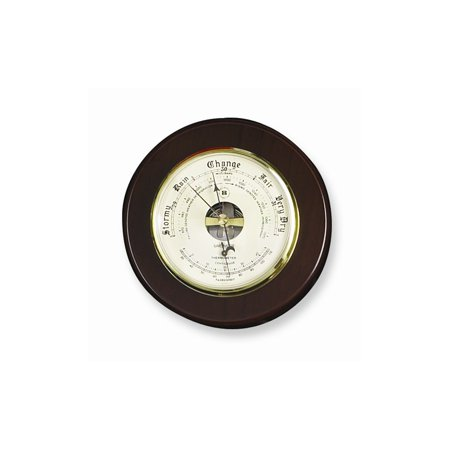 - Cherry Wood Barometer and Thermometer