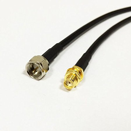 Bulkhead Plug - SMA Female bulkhead to F type male plug RF cable assembly RG58 50cm 20inch NEW Good Quality Fast USA Shipping