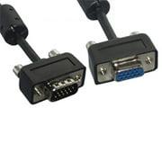Eagle Electronics 180464SL 10Ft Slim Super Shield SVGA Male to Female Cable with Ferrite Core