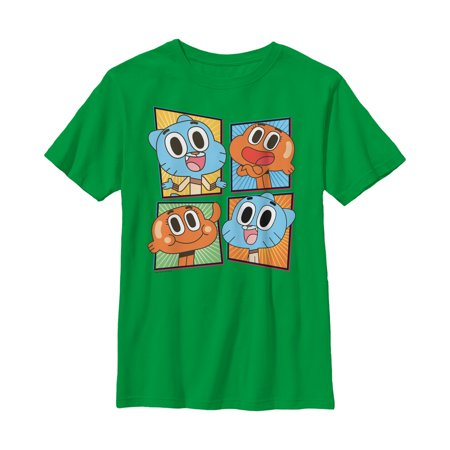 The Amazing World of Gumball Boys' Brother Panels T-Shirt (The Amazing World Of Gumball The Skull)