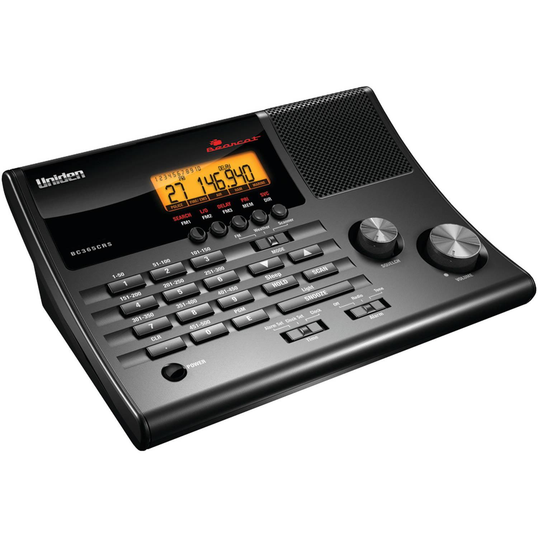 Uniden BC365CRS Alarm Clock Radio Scanner