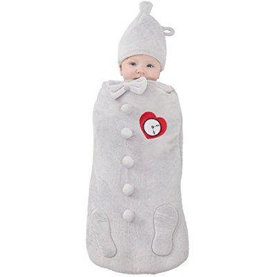 princess paradise baby's the wizard of oz tin man newborn swaddle deluxe costume, as shown, (Homemade Kids' Tin Man Costume)