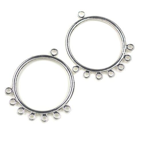 Bright Silver Earring Hoop, 2-Piece