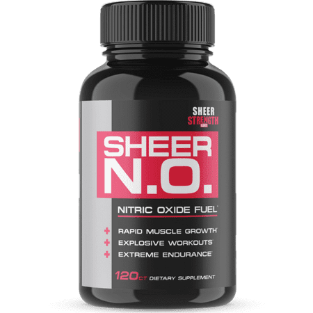 SHEER N.O. Nitric Oxide Supplement - Premium Muscle Building Nitric Oxide Booster with L Arginine - Sheer Strength Labs -