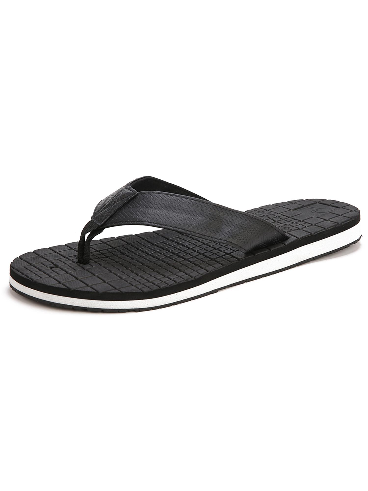 Dinosaur Pattern Mens and Womens Light Weight Shock Proof Summer Beach Slippers Flip Flops Sandals