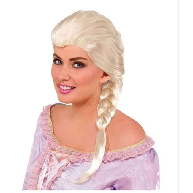 Funny Party Hats ab371 Snow Princess Blonde Wig - Braided