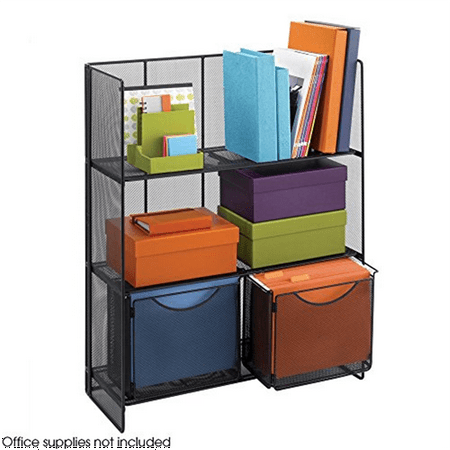 Safco Products Tube (Safco Products 6240BL Onyx Mesh Fold-Up Shelving)