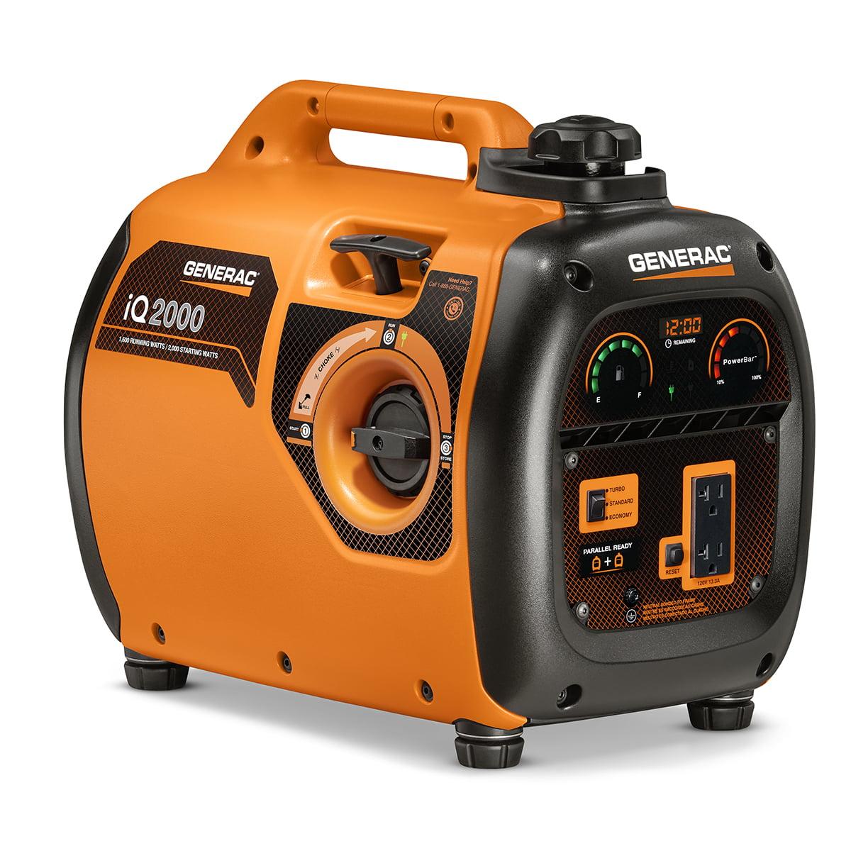 Generac 6866 iQ2000 2000 Watt Inverter Portable Generator, 50 State/CARB