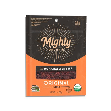 Mighty Organic, Organic 100% Grassfed Beef Mighty Jerky, Original,