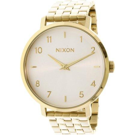 Nixon Womens Arrow A1090504 Gold Stainless Steel Quartz Fashion Watch