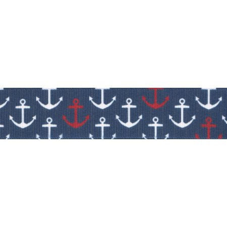 Country Brook Design® 7/8 Inch Anchors Away Grosgrain Ribbon, 5 Yards