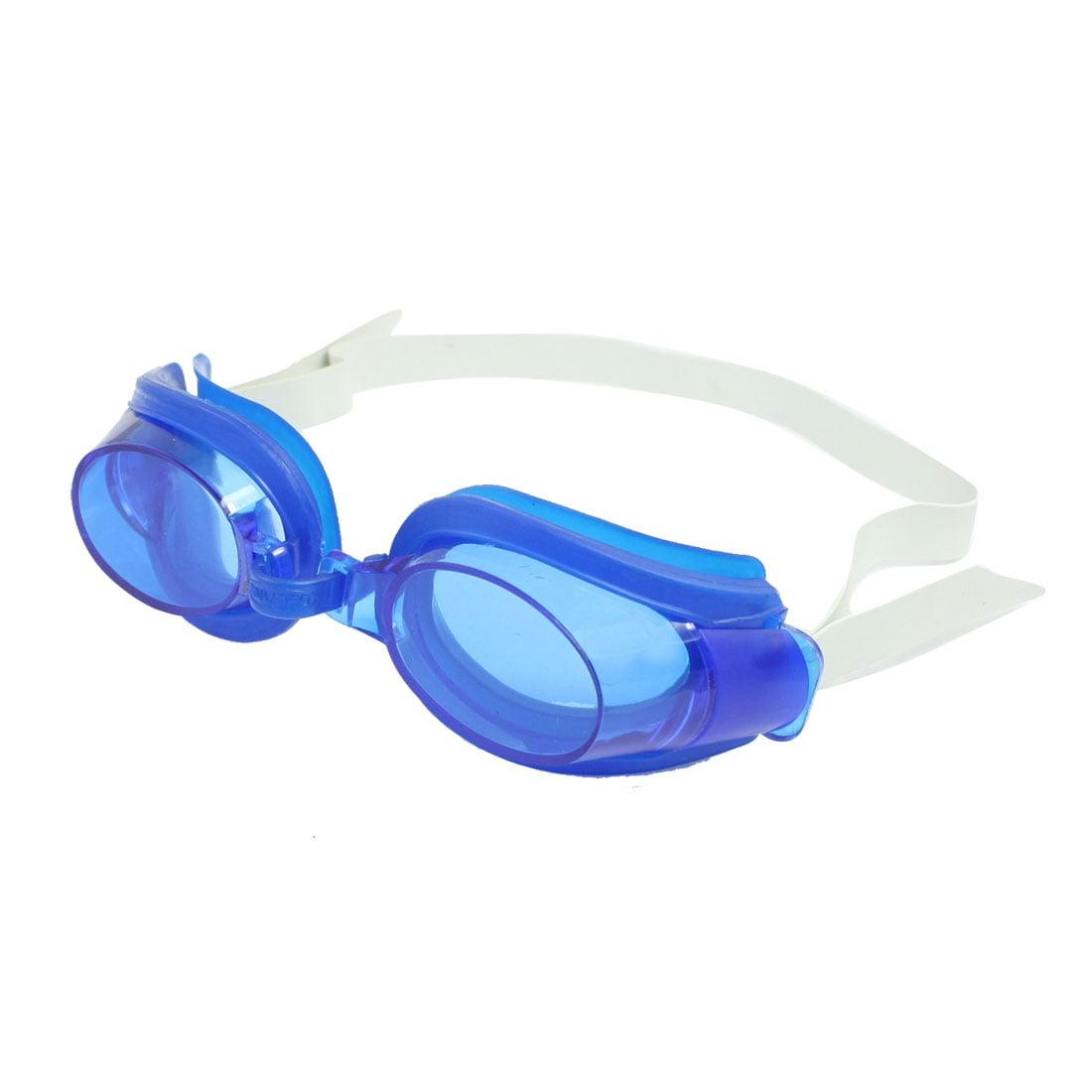 Adjustable Head Strap Swim Swimming Goggle Glasses Blue by