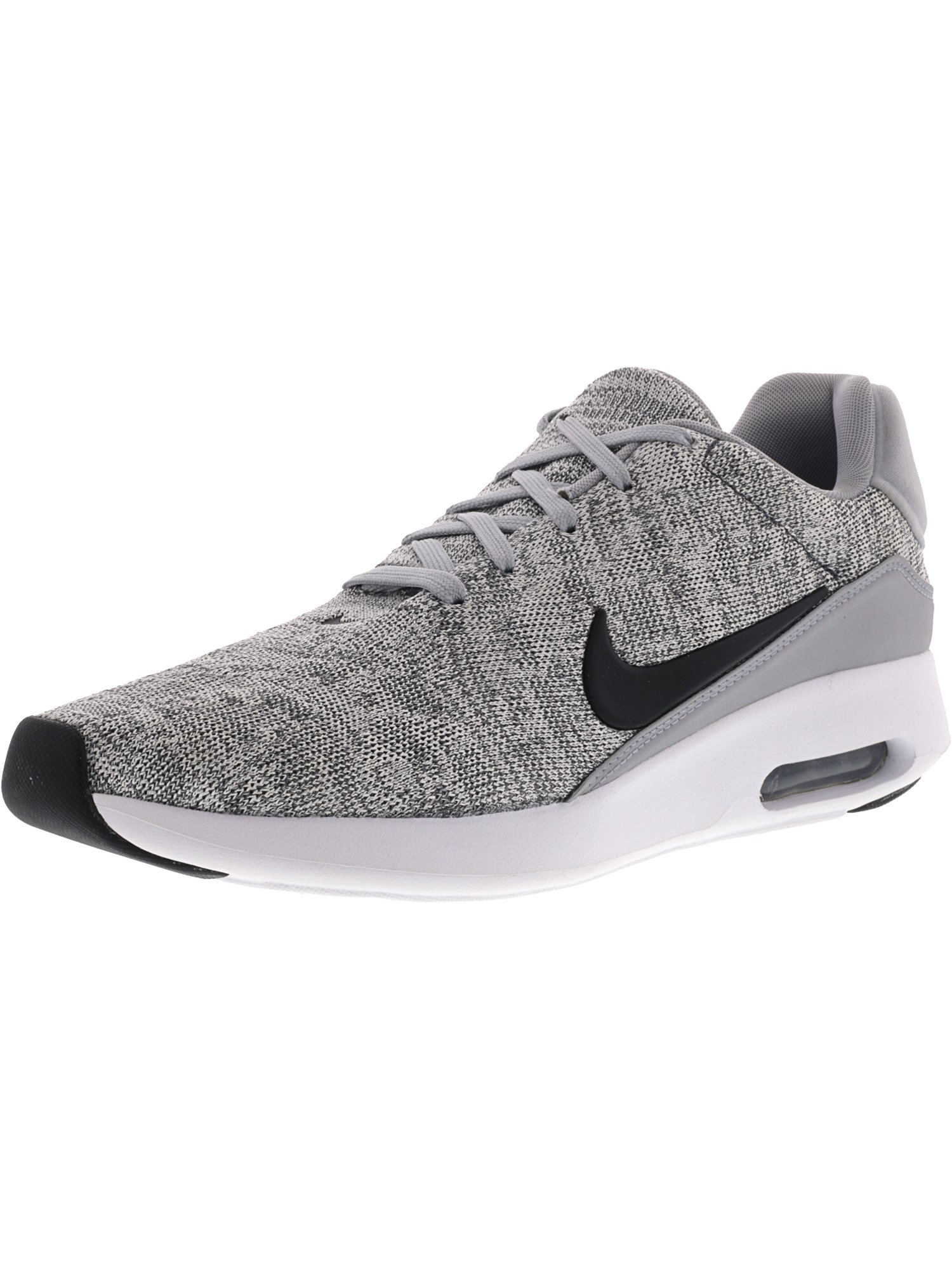 7e751feaf7da ... buy nike nike mens air max modern flyknit wolf grey black white ankle  high fabric running