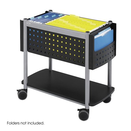 Safco 5373BL Steel Filing Carts Scoot Open Top Mobile - Safco Products Open Top