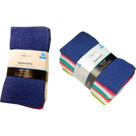 Mainstays Cotton Washcloth Collection, -