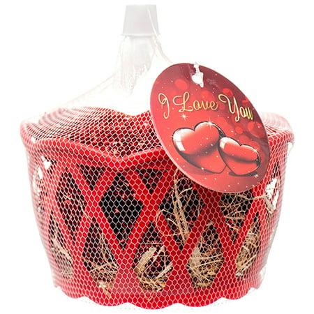 New 379749  Hv Valentine Heart 8Pc Set W / Basket (36-Pack) Cheap Wholesale Discount Bulk Accessories.