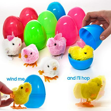 - Prextex Large Toy Filled Easter Eggs Filled with Wind-Up Rabbits and Chics