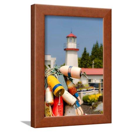 USA, Washington, Aberdeen. Buoys in the Westport Winery Vineyard Framed Print Wall Art By Richard Duval (Westport Usa)