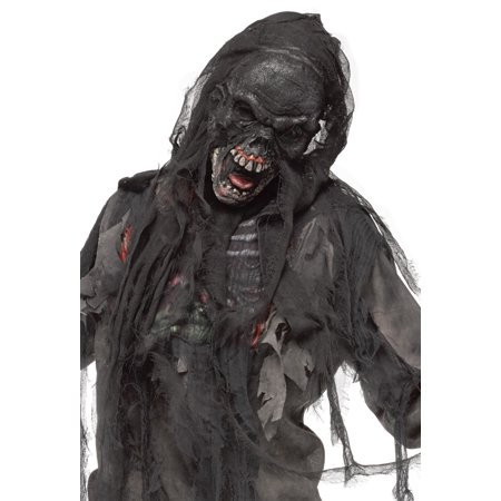Burnt Zombie Mask with Shroud - Zombie Mask Cheap