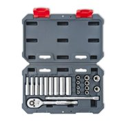 Crescent-CSWS2 21 pc. 1/4 In. Drive 6 Point SAE Standard & Deep Socket Wrench Tool Set