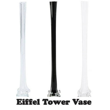 12pc Wedding Eiffel Tower vase Centerpiece Decorations Clear White Black-6 Size