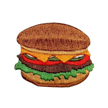Grilled Cheeseburger Hamburger Burger Fast food Food Meal Iron On Applique