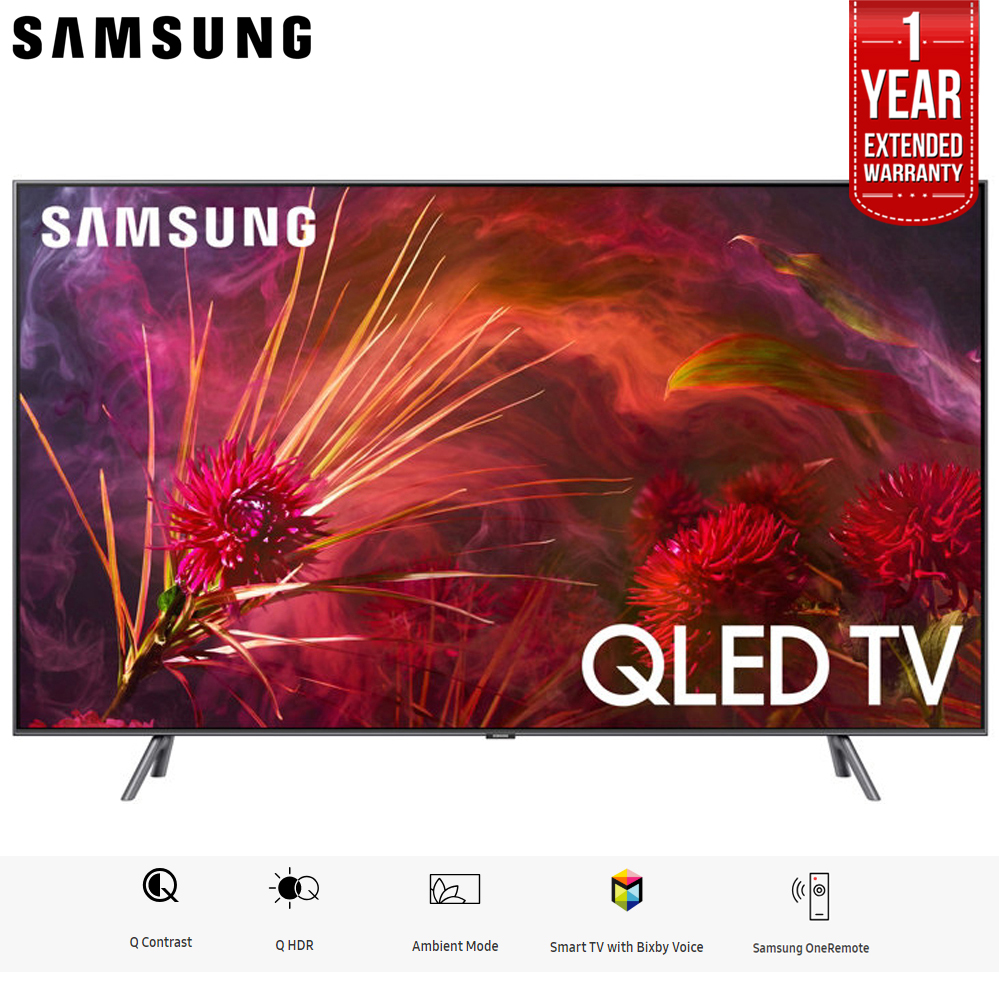 "Samsung 75"" Q8FN QLED Smart 4K UHD TV 2018 Model (QN75Q8FNBFXZA) with 1 Year Extended Warranty"