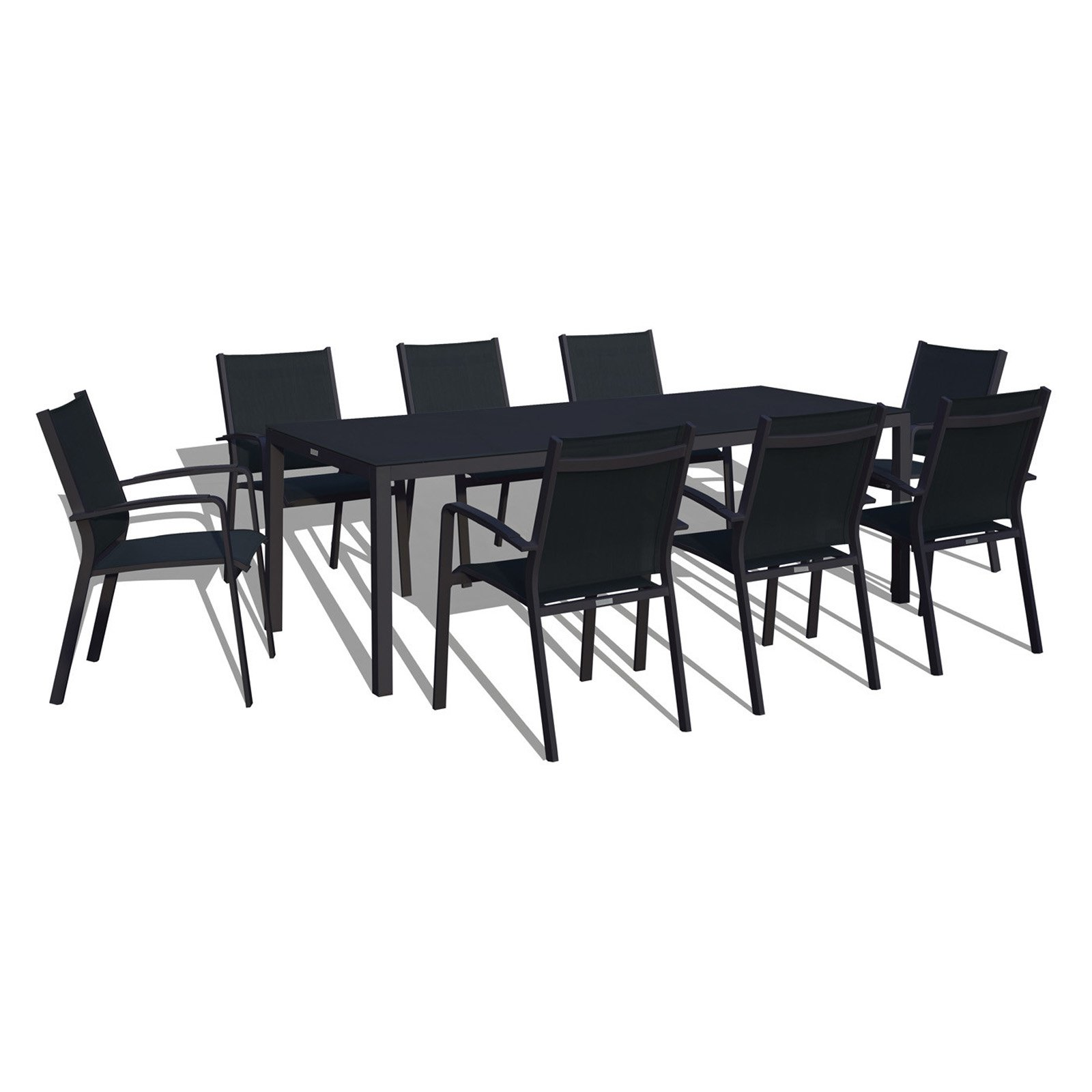 Urban Furnishing 9 Piece Outdoor Patio Dining Set