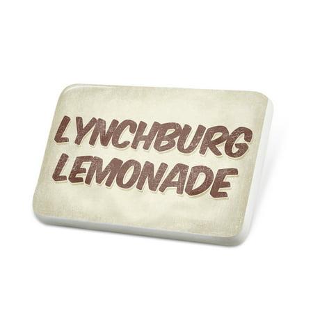 Porcelein Pin Lynchburg Lemonade Cocktail, Vintage style Lapel Badge – (Vintage Lemonade)