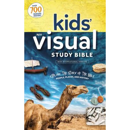 Niv, Kids' Visual Study Bible, Hardcover, Full Color Interior : Explore the Story of the Bible---People, Places, and