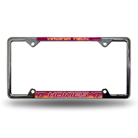 Virginia Tech Hokies Metal - Virginia Tech Hokies NCAA EZ View Chrome Metal License Plate Frame