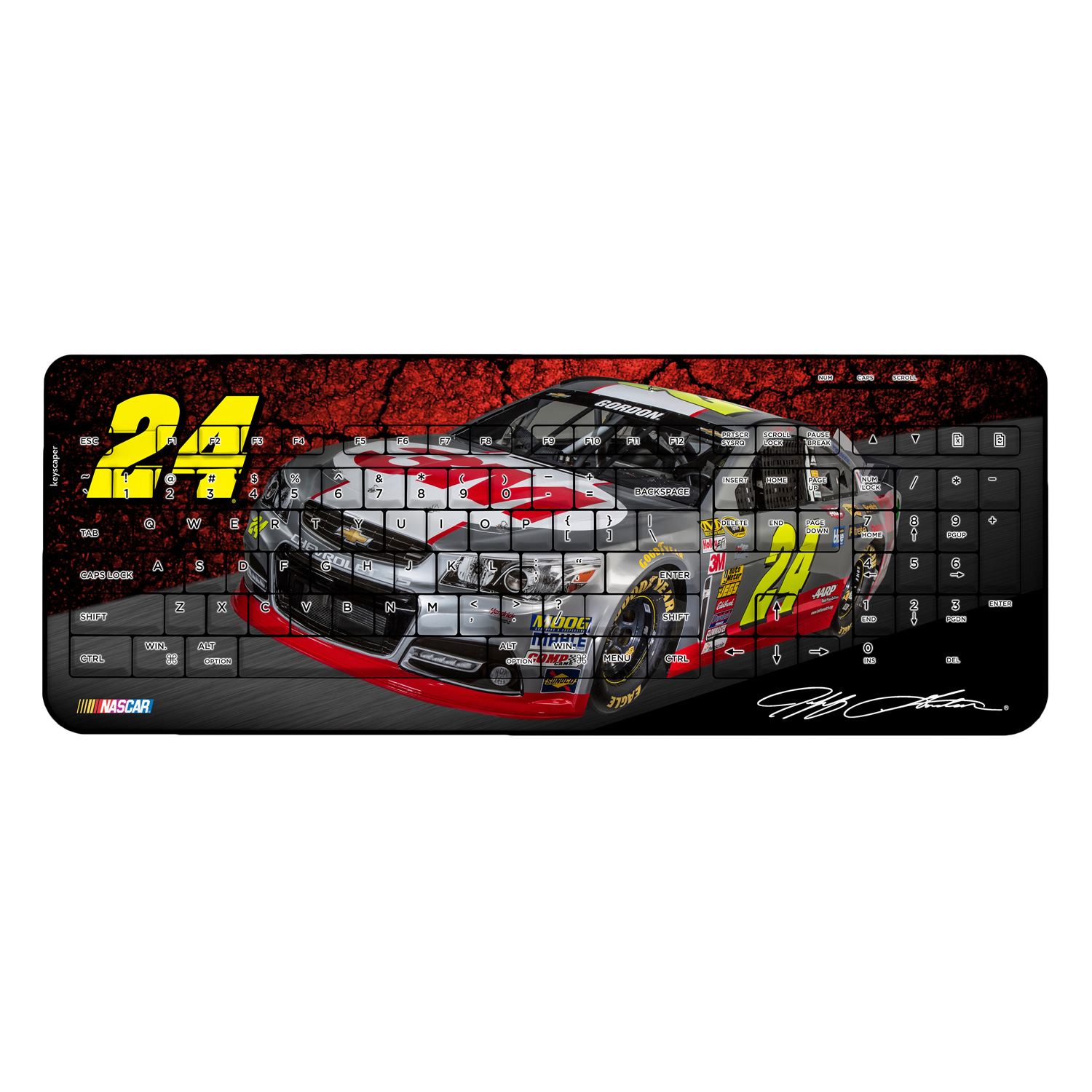 Jeff Gordon Wireless USB Keyboard NASCAR