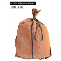 "17"" x 27"" Long-Lasting Sandbags - Brown Color - Lasts 1-2 Yrs - Sandbags for Flooding - Monofilament - Sand Bag - Flood Water Barrier - Water Curb - Tent Sandbags - Store Bags (10 Bags)"
