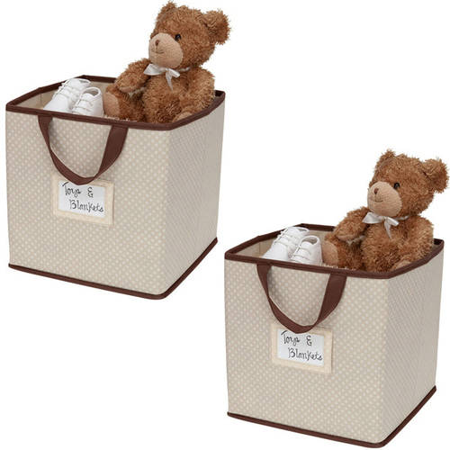 Delta Children 2-Piece Printed Storage Boxes, 4-Pack Value Bundle