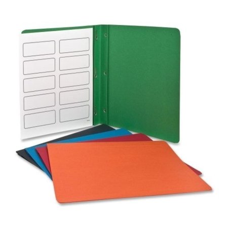 Esselte Coloured Pocket - Twin Pocket Portfolios with Three Tang Fasteners, Assorted Colors, 25/Box (ESS57713), Additional Features - Business Card Slot By Esselte