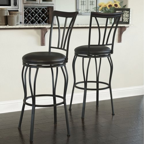 Ashton Adjustable Barstools Dark Bronze Metal Finish 2pk