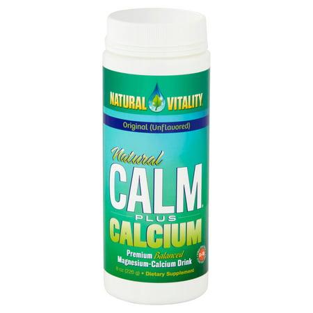 Fiber Supplement Plus Calcium - Natural Vitality Calm plus Calcium Magnesium Supplement, 8oz