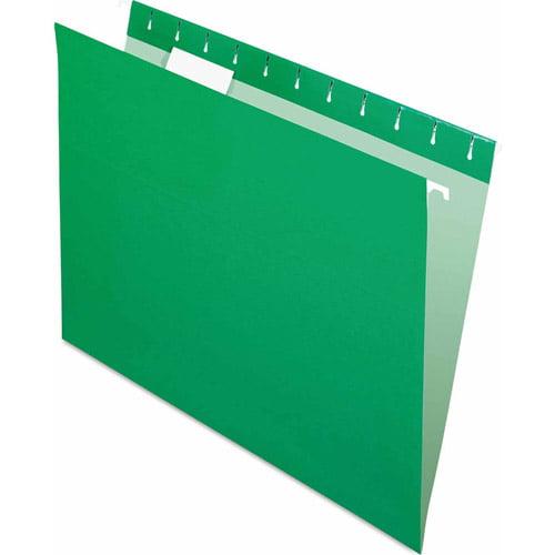 Pendaflex Hanging File Folders, Bright Green, 25ct