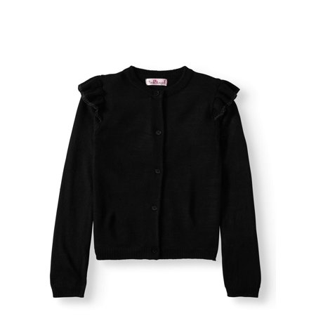Pink Angel Ruffle Shoulder Cardigan Sweater (Little Girls & Big Girls) ()