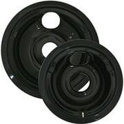 Range Kleen 2-Pack Porcelain Drip Pan Set, Black