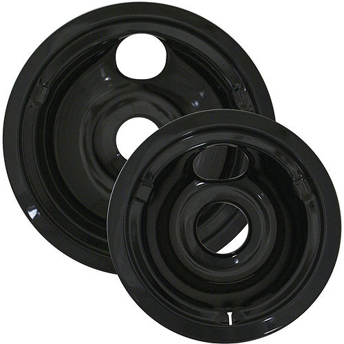 Range Kleen 2-Pack Porcelain Drip Pan Set, Black