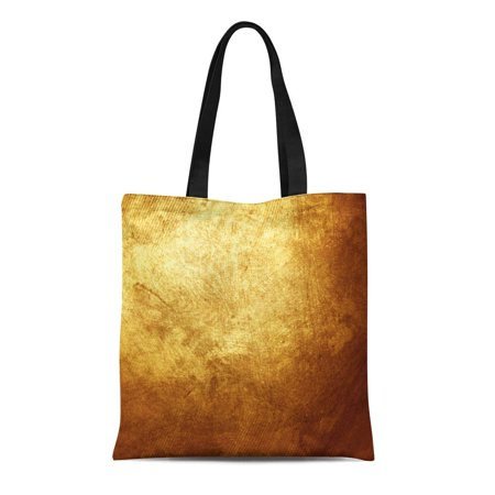 ASHLEIGH Canvas Tote Bag Gray Bronze Gold Metal Yellow Golden Dark Copper Old Reusable Shoulder Grocery Shopping Bags (Gold Copper Flash Ray Ban)