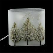 DecorFreak Lighted Glass Jar - Matte Finish With Sparkled Tree II