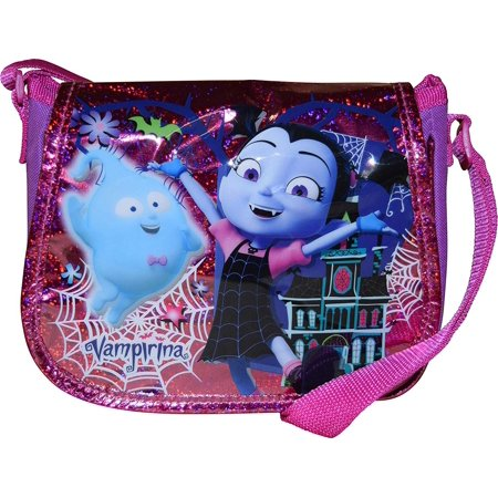 Disney Vampirina Girl's Flap Over Crossbody Purse ()