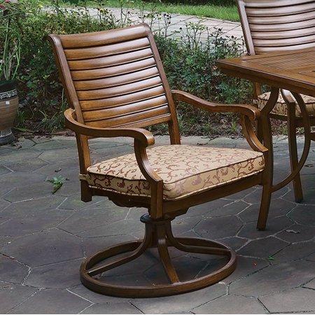 Benzara Transitional Swivel Rocker Chair Brown Image