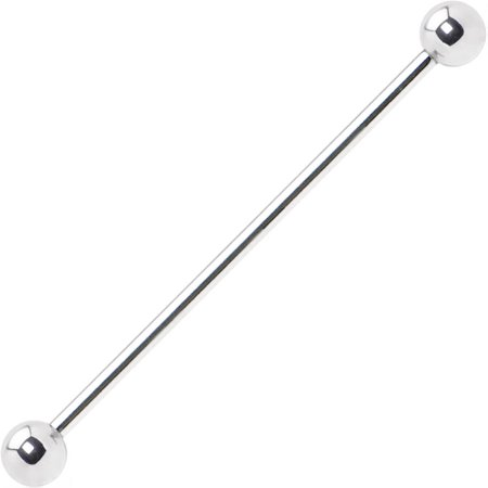 Surgical Steel Straight Industrial Barbell 16G - 4 Lengths Available