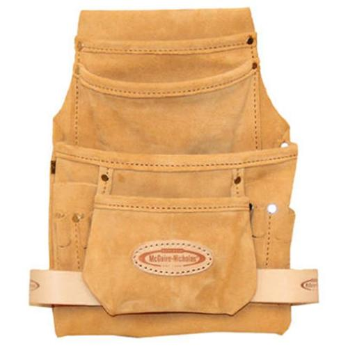 Rooster Group 683CSP-DISC 10-Pocket Suede Tool Pouch